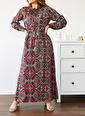 XHAN Yakası Bağlamalı Elbise 0Yxk6-43515-04 Renkli